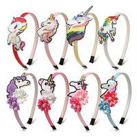 Bebek Saç Aksesuarları Sticks Kafa Bantları Kızlar Bantlar Çocuk Pullu Unicorn Çiçek Inci Karikatür Parti Aksesuar B5227