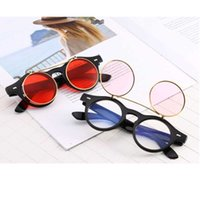 Eğilimler Erkek Steampunk Vintage Güneş Gözlüğü UV400 kadın Çift Yuvarlak Çerçeve Dekoratif Gözlük Cozmo 90 S Stil Siyah Pembe Yel