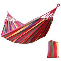 Shade 190x150cm Ultralight Camping Hammock With Backpack Rainbow Outdoor Leisure Portable Canvas Without Stand