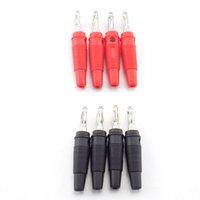 BNC 커넥터 고품질 4mm 바나나 플러그 오디오 스피커 스크류 골드 실버 플러그 플러그 어댑터 솔더리스 블랙 붉은 색