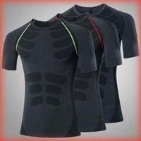 클리어런스 판매 압축 남성 T 셔츠 운동 스포츠 러닝 T 셔츠 짧은 소매 조깅 티셔츠 피트니스 운동 체육관 의류 남성