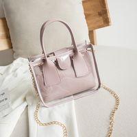 Borse con borse a tracolla composito da donna HBP 2021 Square stile moderno in PVC trasparente gelatina donna borse borse borse borse da donna borsa a mano