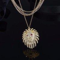 Heiße neue hochwertige berühmte Marke Mode Ohrringe und Halsketten Lion Anhänger und Löwen asymmetrische Ohrringe, Mode Männer und Frauen Geschenke