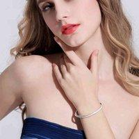Gioielli di colore argento per le donne Pulseira Feminina Braccialetto Argent Pulseras Platas Plata de Ley 925 Mujer Bangle Gemstone