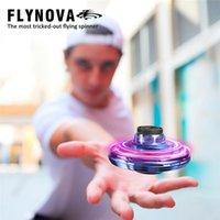Flynova UFO DRONE LED Volando Spinner Juguete Mini Flyorb Fly Nova Helicopter Spinners FingerIt Finance Flight Gyro Adulto Niños Regalo