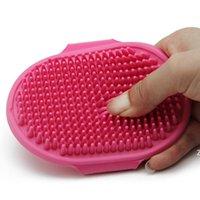 Güzellik Araçları Köpek Banyo Silikon Pet Spa Şampuan Masaj Fırçası Duş Epilasyon Tarak Evcil Hayvan Temizleme Tımar Aracı DHA4494