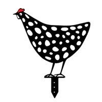 수탉 암 탉 아크릴 동물 스테이크 가든 실루엣 야드 아트 닭 조각 동상 장식품 잔디 야외 장식 치킨 마당 아트 CCF6921