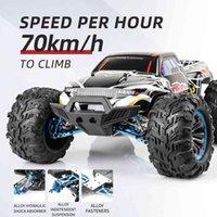 1:10 스케일 리모컨 오프로드 차량 2.4G 고속 차량 4 륜 구동 70 km / h 브러시리스 트럭 어린이 장난감