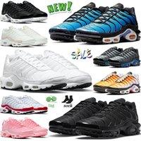 nike air max airmax tn plus حذاء رياضي رجالي Tn Plus 2021 للجري ثلاثي أسود بالكامل أبيض وأزرق ورمادي وأصفر Supernova يعني أخضر Oreo Wolf حذاء رياضي 36-46