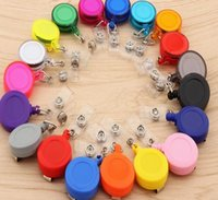 Keychains Lot Retractable Pull Badge ID Lanyard Name Tag Card Holder Reels Key Ring Chain Clips School Student Office Keychain