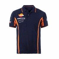 2021 F1 Moto GP Equipo Polo Camisa Racing Sportswear Polyester Secado rápido Motorcycle T-shirt El tamaño grande puede personalizarse con el mismo estilo