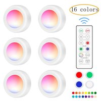 LED Cabinet Light Touch Sensor Creative 16 Color LEDs Night Lamp With Remote Control Fast Strobe Lamps Staircase Corridor Party Atmosphere Lights
