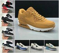 Calidad superior 90 zapatillas para correr 90 hombres baratos mujeres negro blanco infrarrojo recraft Royal Denham Sneakers Clásico diseñadores zapato zapato deportes al aire libre Tamaño 36-46