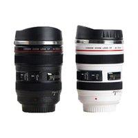 Mugs Stainless Steel Camera EF24-105mm Coffee Lens Mug White Black Creative Gift Cups Canecas Tazas