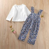 Children's clothing autumn and winter long sleeve T-shirt + strap Jumpsuit