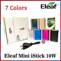 Eleaf Mini Istick Kiti 7 Renkler 1050 mAh Dahili Pil 10 W Maksimum Çıkış Değişken Gerilim Mod USB Kablosu Ile Ego Bağlayıcı Hızlı Gönder