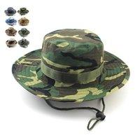 Cloches est 패션 위장 마운틴 모자 남성용 여름 남자의 라운드 Boonie 모자 군사 캠핑 야외 모자