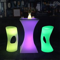New Led luminous cocktail table lighted up bar creative lighting furniture round high club KTV disco supplies
