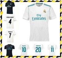 2017 2018 2019 rétro Real Madrid Soccer Jerseys Ronaldo Marcelo Bale Sergio Ramos 17/18/19 Chemise de football rétro