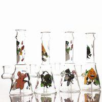 Mini 7.5inches Dos Desenhos Animados Dólatos de Água Cachininhas Handmade com tigela de vidro 4 padrões bonitos diferentes Percolator Bong