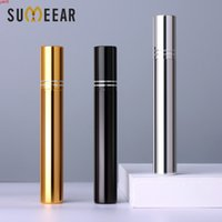50 Pcs Lot 15ml Portable UV Glass Refillable Perfume Bottle With Double line Aluminum Atomizer Spray Bottles Sample Empty Contahigh qty