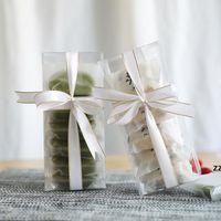 Wyczyść przezroczyste pudełka cookie czekoladowe pudełka do pakowania cukierków urodzinowe uchwyt przy weselach HWD9863