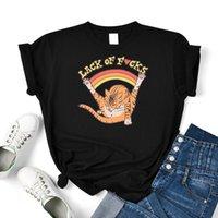 Женская футболка сексуальная оранжевая кошка мультфильмы женские Crewneck хлопковые футболки старинные летняя одежда футболка для футболки личности футболки Thirs