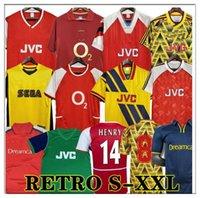 Henry Retro Futebol Jerseys 98 99 83 86 95 91 93 97 97 Reyes Vintage Wright Vintage V. Persie Fabregas Arsen Ljungberg Vieira Bergkamp Football