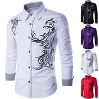 Homens Casuais Camisas Debracat Homens Slim Fit Camisa de Manga Longa Tops Botão de Férias Up Blusa Tee UK