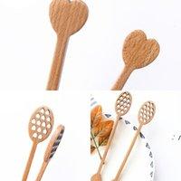 Coussin creux mignon amour en forme de miel en bois bâton de miel de miel cuillère cuillère cuillère bijouterie accessoires de litenderie cuisine gadget AHA4390