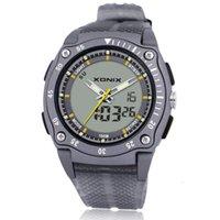 K4ar Watch Xonix Классический атмосферный светодиодный ночной свет с тревоги Многофункциональный двойной дисплей спортивный водонепроницаемый электронный мужской DH