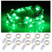 2021 cuerdas led 1m 2m 3m cobre plateado luces de luces batería de la batería de la luz de hadas para la Navidad Halloween Party Decoración de la boda EUB