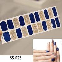 Lamemoria 22tips Nail Art Adesivo adesivo Adesivo FAI DA TE Manicure Snowflake Shiny Sequins Strisce Polacco Involucri Accessori Accessori Adesivi all'ingrosso Decalcomanie