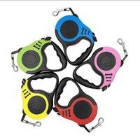 Dog Collars & Leashes 3M 5M Automatic Retractable Durable Pet Nylon Flexible Strong Walking Drop