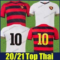 Sport Club Do Recife Soccer Jerseys رجل قمصان Hernane Maidana Thiago Neves Football Jersey Camisa de Leao Home Red Black Stripes Away White Sports Wear 21/22 Top
