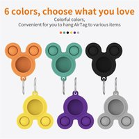 Decompression Toys fidget Push Bubble Sensory Toy Protective It Cover Case Silicone Protector Bumper Cases With AirTags Tracker Buckle