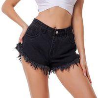 Sexy Beach Bottom Women High Waisted Denim Short Female Body Enhancing Plus Size Women's Jeans Shorts