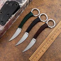 Portable Karambit Tactical Claw Knife Fixed D2 Blade Pocket CS Go Outdoor Sharp Camping Jungle Hunting Self-Defense EDC Tool