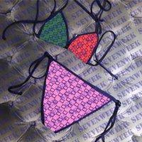 Moda carta impressão mulheres swimwear cintura alta mulheres biquínis conjunto têxteis sexy sem costas senhoras nadar natação de banho