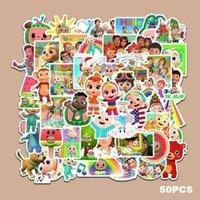 50 Adet / Paket Coco Kavun JJ Litter Boys DIY Sticker Karikatür Sevimli Çocuklar Kitaplar Su Şişesi Paster Moda Bilgisayar Çıkartmaları GG35GWQE