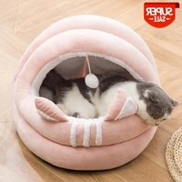 Warm Cat Bed Cave Soft Pet Bed Comfortable Dog House Furniture Deep Sleeping Kennel for Puppy Home Basket Accessories Supplies #lp9c