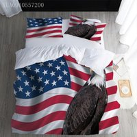 Bedding Sets American Flag Set Eagle Single Queen King Size Bed Adults Duvet Cover Pillowcases Comforter