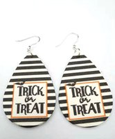 Personality Halloween's Day Charm Earrings Ins Design Halloween PU Leather Earring Temperament Simple Ear Jewelry Gifts