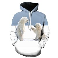 Sweats à capuche pour hommes Sweatshirts Motif animal 3D Sweat à capuche Polaire Pull à manches longues Sweat-shirt à manches longues Cool unisexe Streetwear Mens