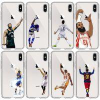 Kılıflar Karikatür Silikon Basketbol Baskı Telefon Kılıfı Için 11 Pro XR XS Max 7 6 6 S Artı Arka Kapak Anti-Val Koruyucu Kabuk