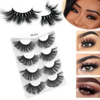 False Eyelashes 4 Pairs Mink 25mm Lashes Fluffy Messy 3D Wholesale, 5 Natural Long Thick Extension