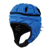 Radfahrenhelme einstellbar anti-kollision fußballfußballhelm kinderwächter atmungsaktiver sport kopfschalter weicher gefüllter headschutz für childr