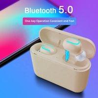 Kulaklık Q32 Gerçek Kablosuz İkizler Kulaklıklar Stereo Müzik Kulaklık Gürültü Iptal TCS Bluetooth Kulaklık Evrensel Marka Telefonları Için