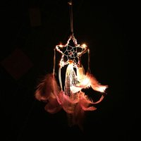 Decorative Objects & Figurines LED String Light Dreamcatcher Christmas Decorations Home Decoration Wind Chimes Double-deck Romantic Night Gi