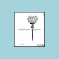 """Halter Dekor Home Garden20pcs / lot, Glas Kristallhalter, 12 """"Tall X4"""" breit, Hochzeitszentrumstück Metal Sier Kerzenständer Kerze Stehstab D"""